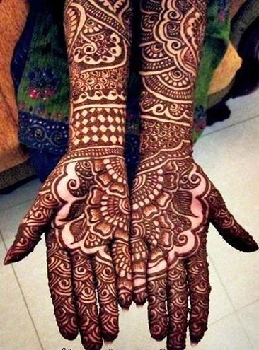 Ancient Full Hands Marathi Mehndi Designs