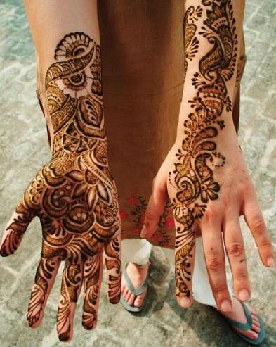 Broad Marathi Mehndi Designs