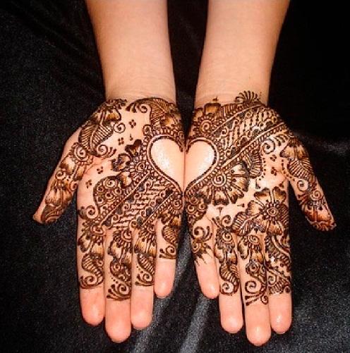 Combine Heart Marathi Mehndi Designs