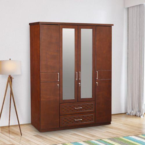 Simple 4 Door Wardrobe Designs