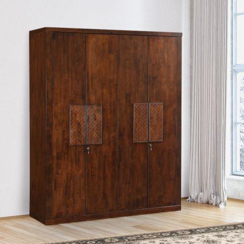 4 door wardrobe designs india