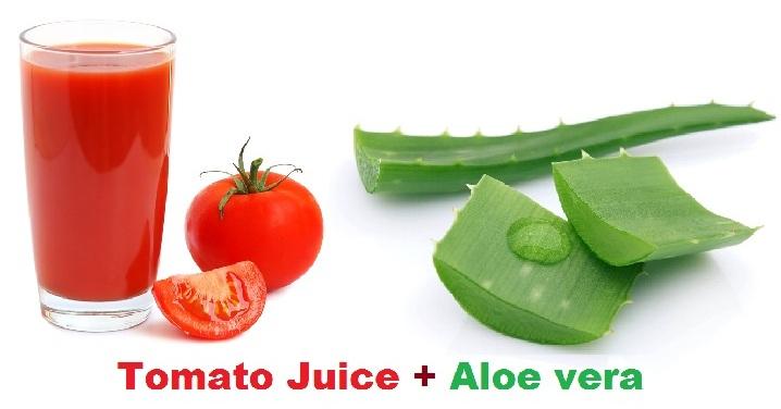 Aloe Vera and Tomato Juice Face Mask