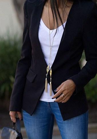 Casual Black Blazer