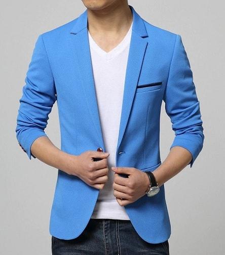 Men's Slim-Fit Casual Blazer