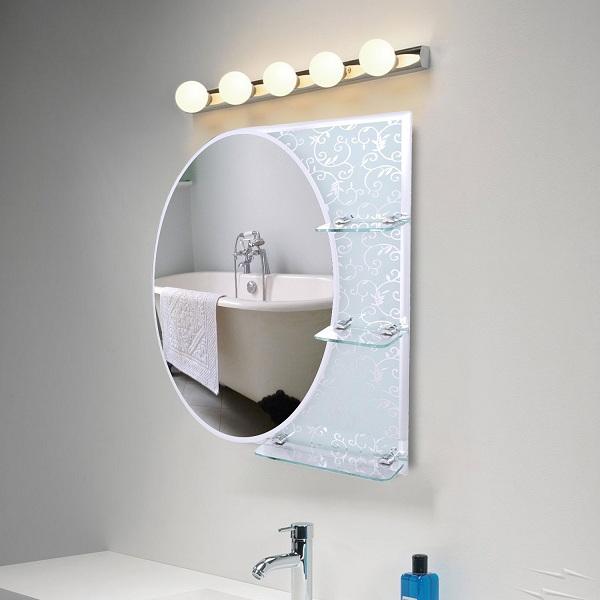 huge oval mirror