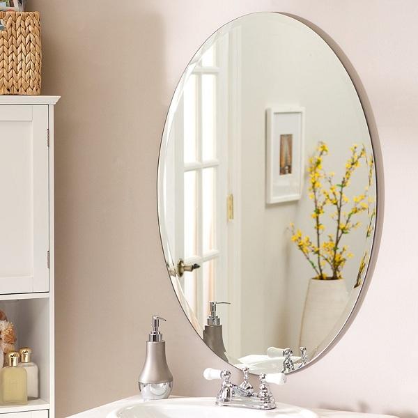 Simple oval mirror designs
