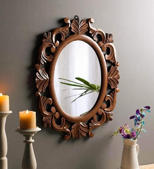 plain oval mirror