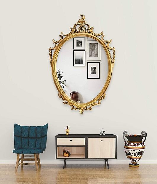 long oval mirror