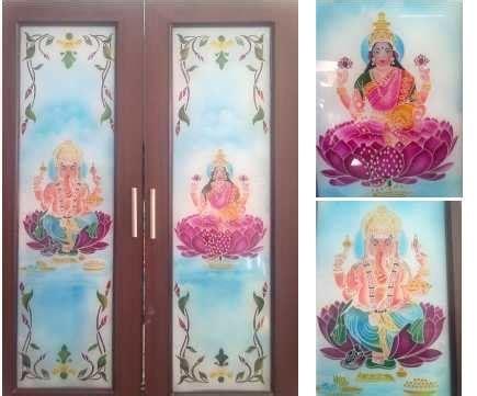 pooja room glass door models