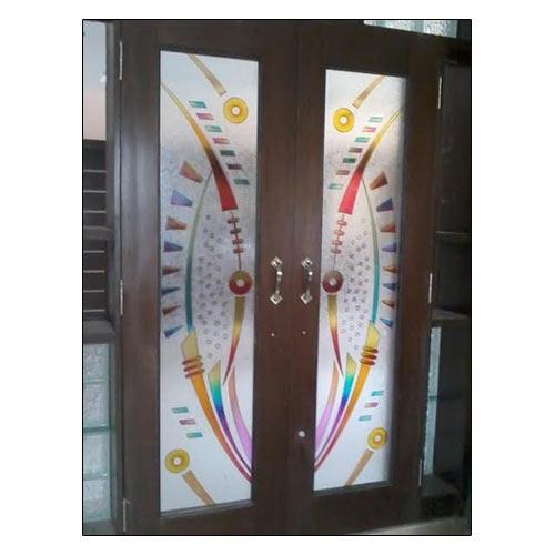 pooja room glass doors designs