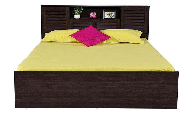 Wood Matte Finish Storage Bed