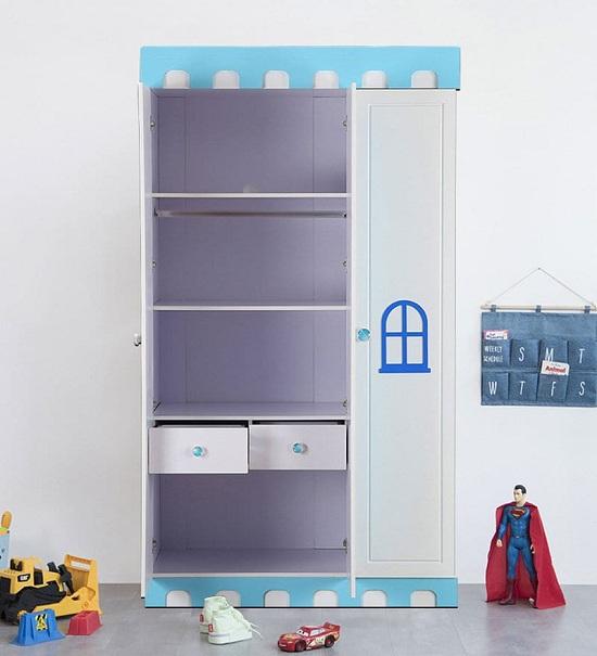 white wardrobe unit
