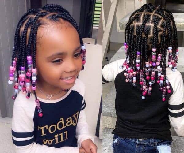 African Inspired Kids Braids
