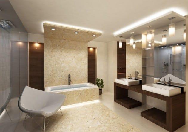 Modern Bathroom Ceiling Ideas