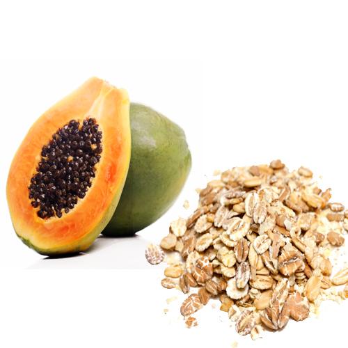 Papaya And Oatmeal Face Pack