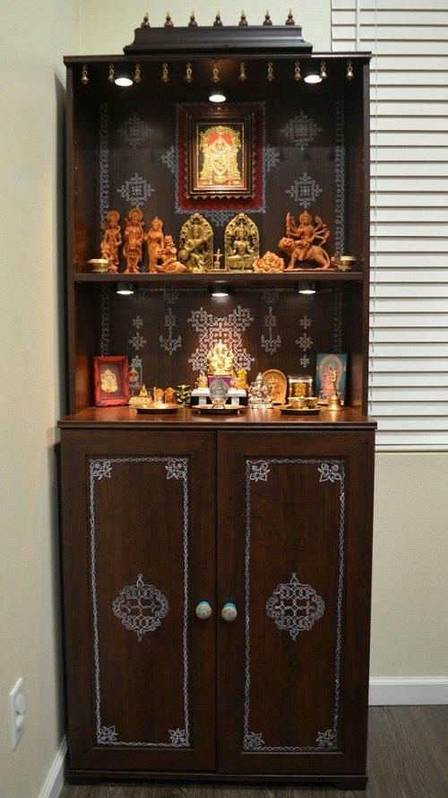 pooja room shelf models