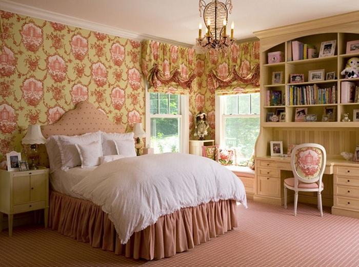 showcase in bedroom