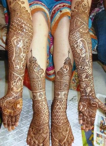 Modern Day Dandia Mehndi Design