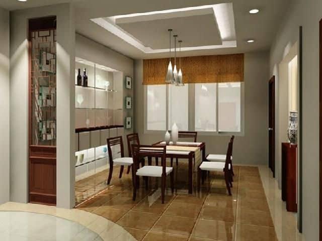 Simple False Ceiling Design for Dining Room
