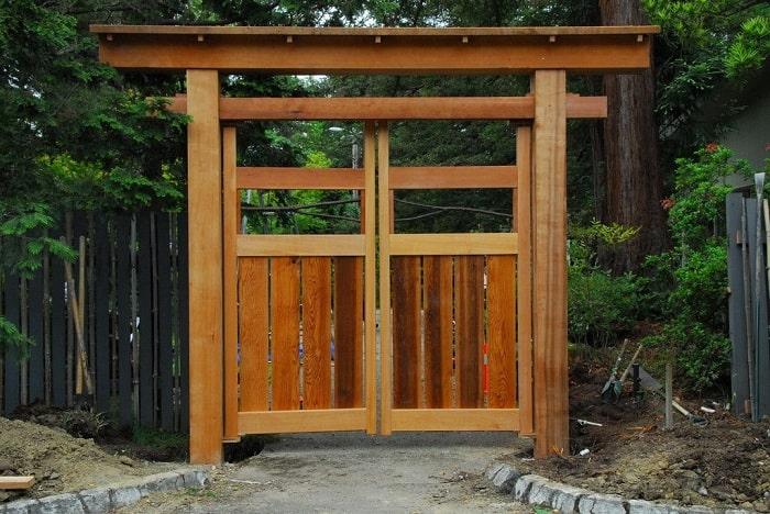 Double Garden Gates