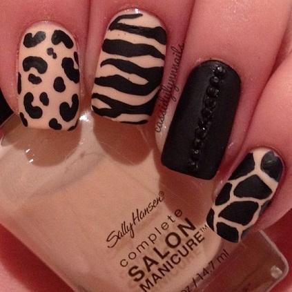 Leopard Nail art4