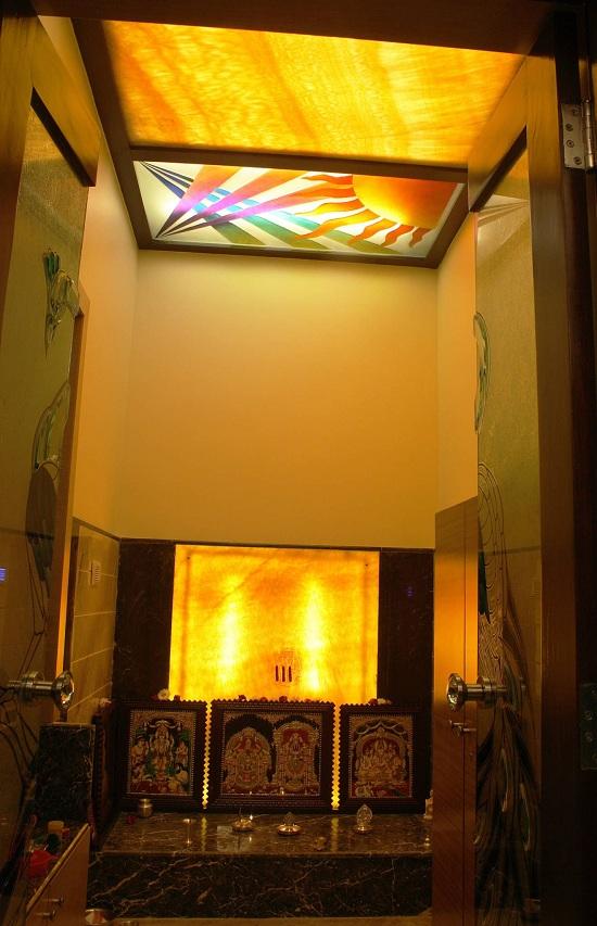 Latest pooja room false ceiling designs