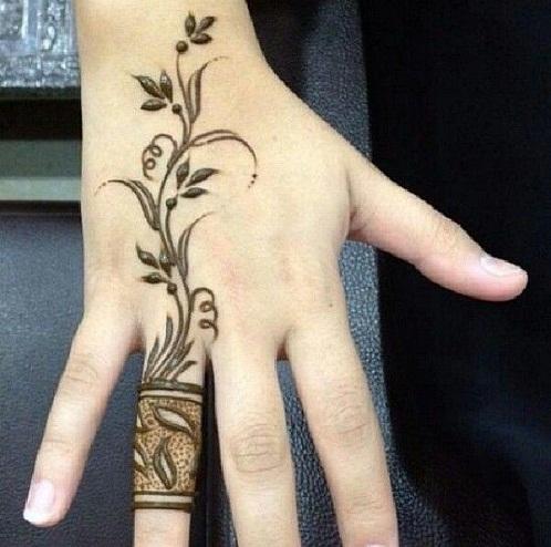 Designer Ring Style Mehndi Design