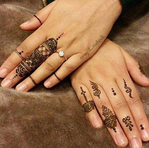 Latest Western Pattern Ring Mehndi Design