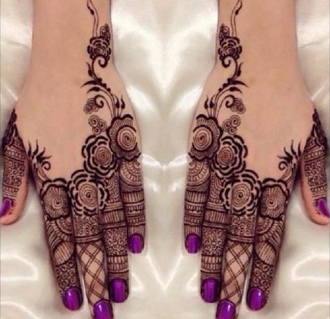 Arabian Style Ring Mehndi Design