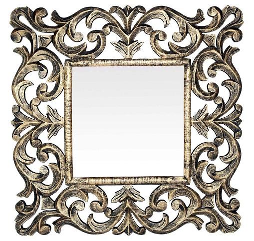 Wooden Square Mirror Design