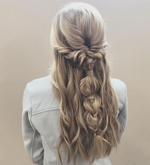 Boho Long Hairdos for Prom