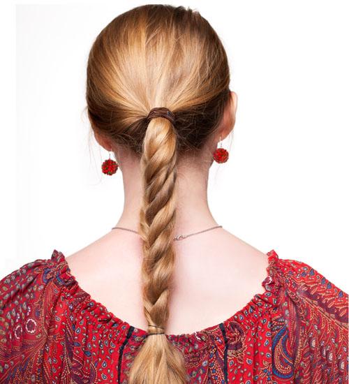 Feminine Rope Braided Long Hair