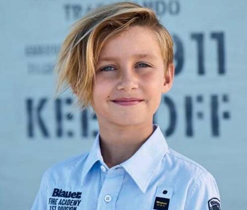 Messy Haircut for School Boys