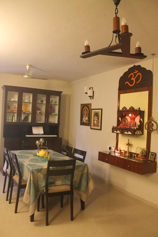 pooja room in kitchen