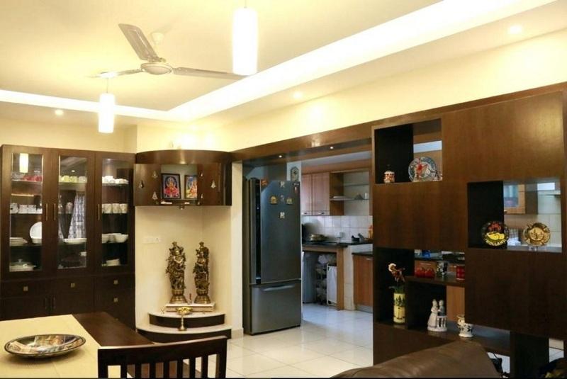 vastu for pooja room in kitchen
