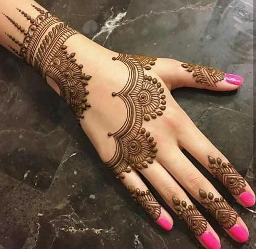 Mehndi Design For Rakhi