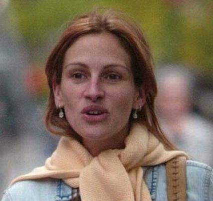 Julia Roberts without makeup 3