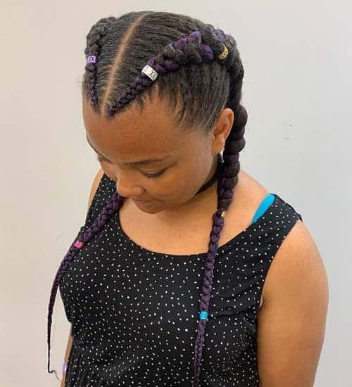 Stylish Braided Black Hairstyle