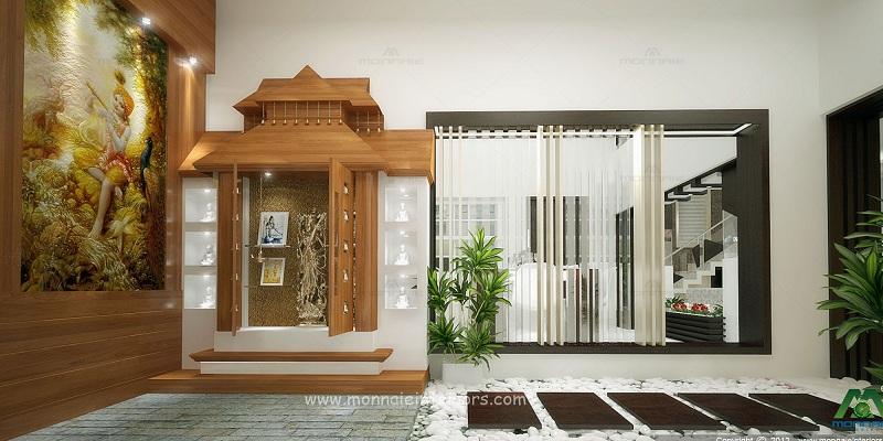 Modern Pooja Room Designs In Wood