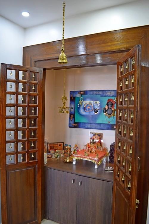 wooden pooja mandir designs for home