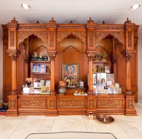 pooja ghar designs wooden