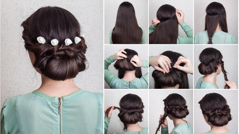 Elegant Bun for Thick Hair