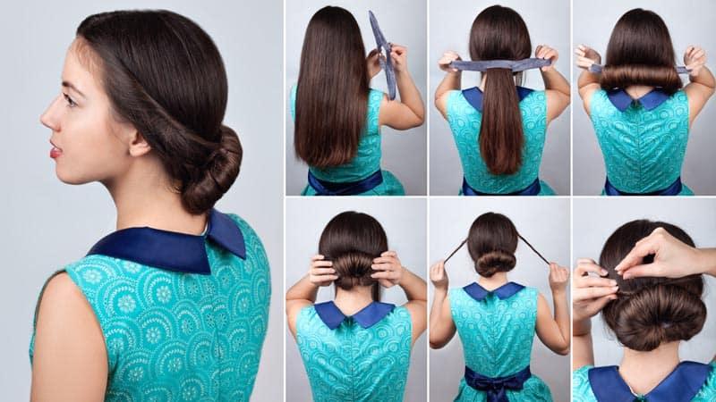 Low Hair Bun for Medium Hair