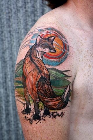 Simple Fox Tattoo Designs 2