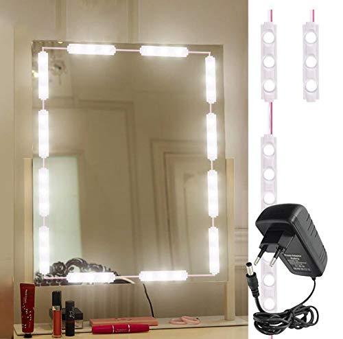 mirror with light bulbs