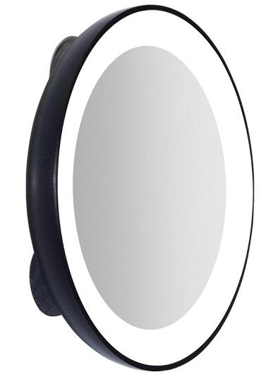 mirrors with lights around them