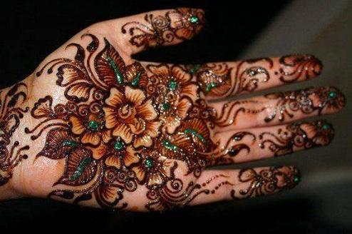 Flower Teej Mehndi