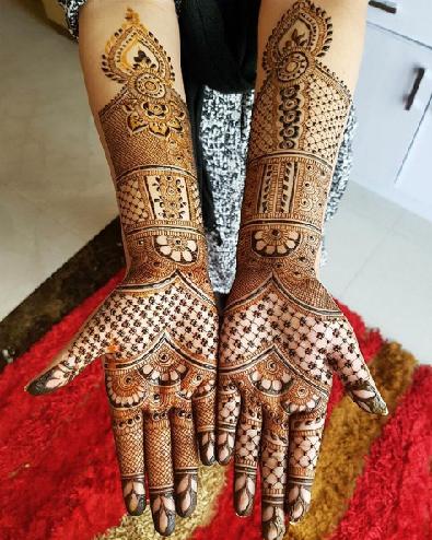 Full Hand Teej Mehendi design