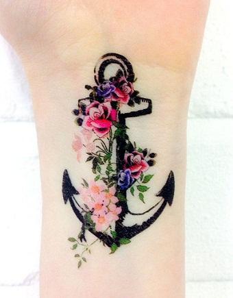 3D Anchor Tattoo