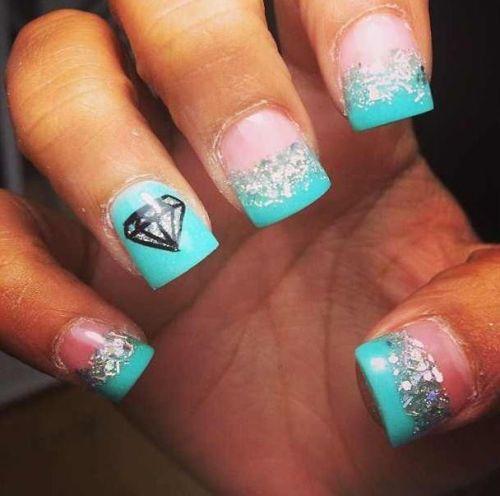 Diamond nails Design